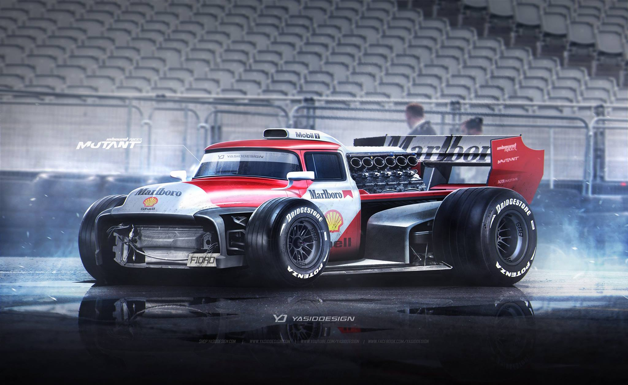 Ford F-100 Meets V12 F1 Car in Mindblowing Rendering ...