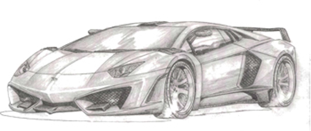 Lamborghini aventador para colorear - Imagui