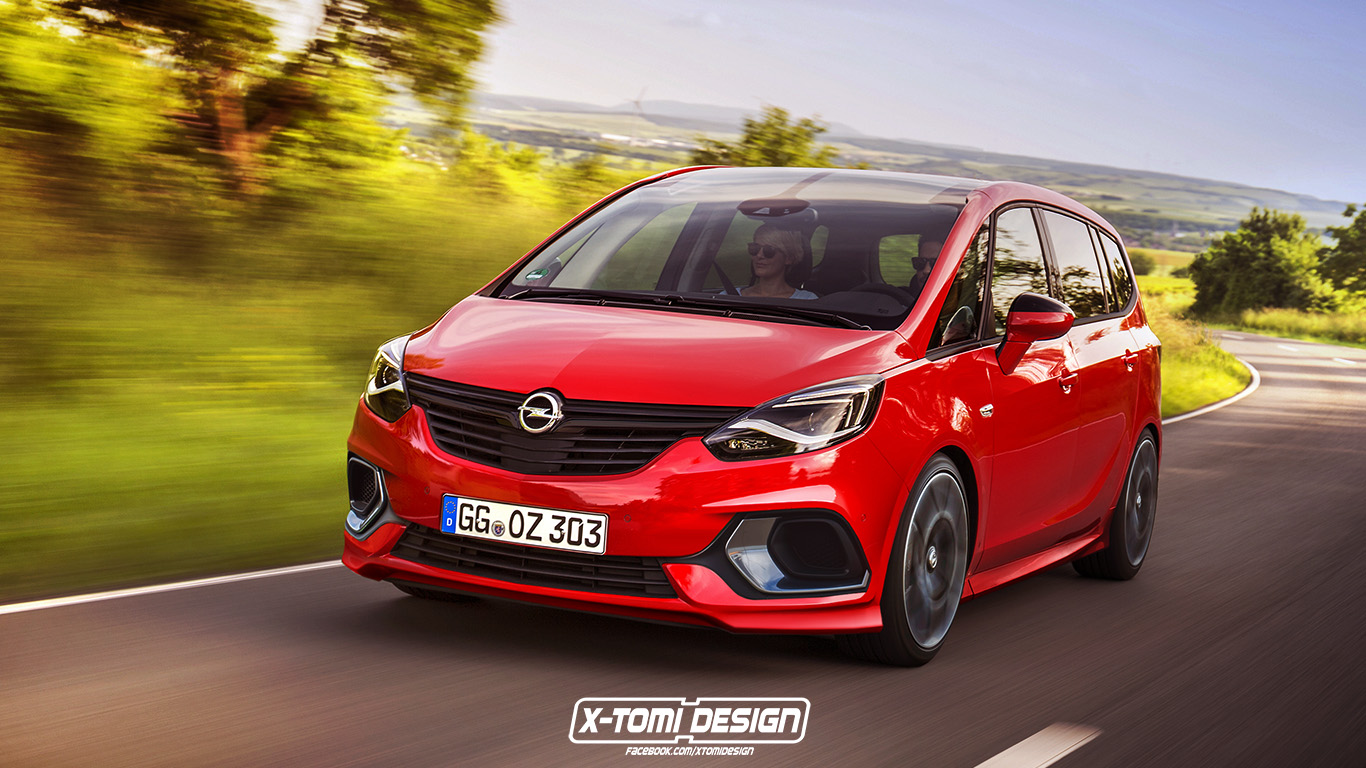 facelifted opel zafira would look good with opc body kit. Black Bedroom Furniture Sets. Home Design Ideas