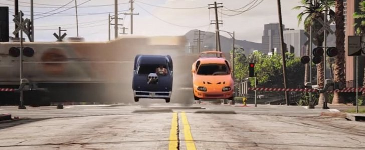 Supra Vs Charger >> Fast and Furious 1993 Toyota Supra vs. 1970 Charger Drag Scene Gets GTA V Version - autoevolution