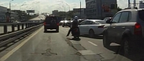 Fast Lane Splitting + Audi A5 Equals Crash [Video]