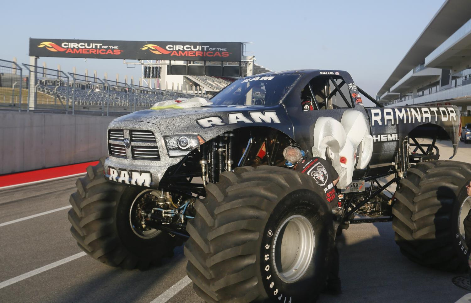 fastest monster truck in the world record goes to the raminator of hall brothers racing