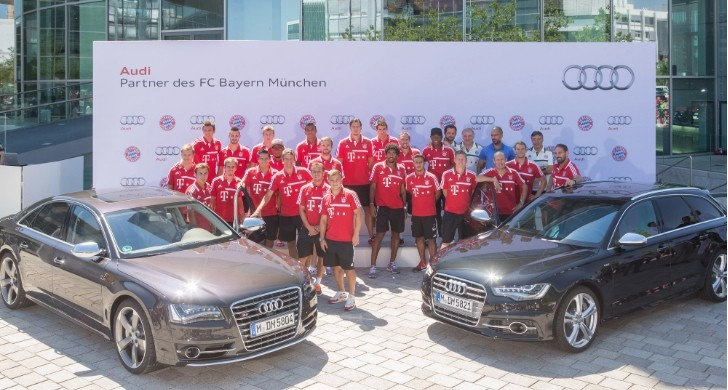 FC Bayern Munchen Gets New Audis