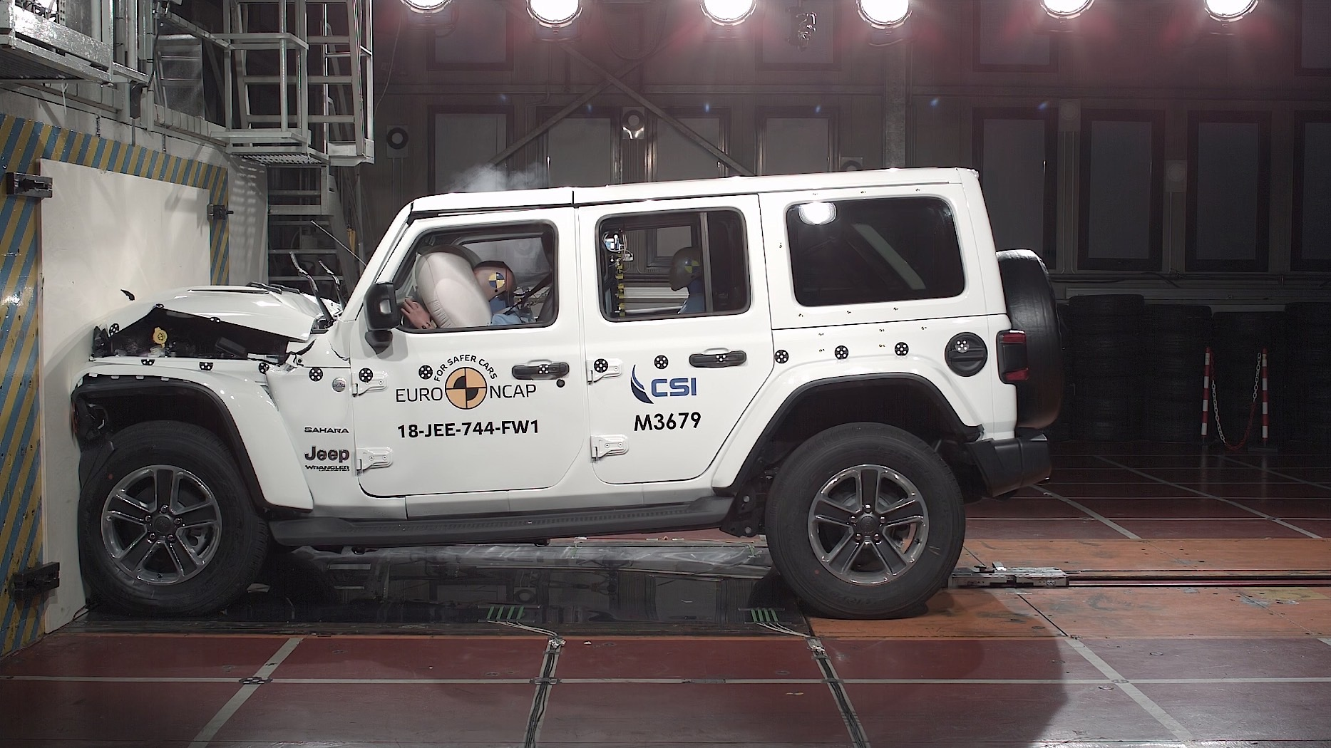 Jeep Wrangler scores 1 star in European crash tests