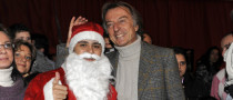 Felipe Massa Dresses Up as Santa during Ferrari Christmas Celebration