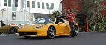 Fernando Alonso Takes 458 Spider for a Spin [Video]