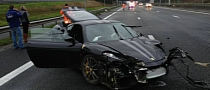 Ferrari 430 Scuderia Crashes, Hits Mercedes SLS AMG