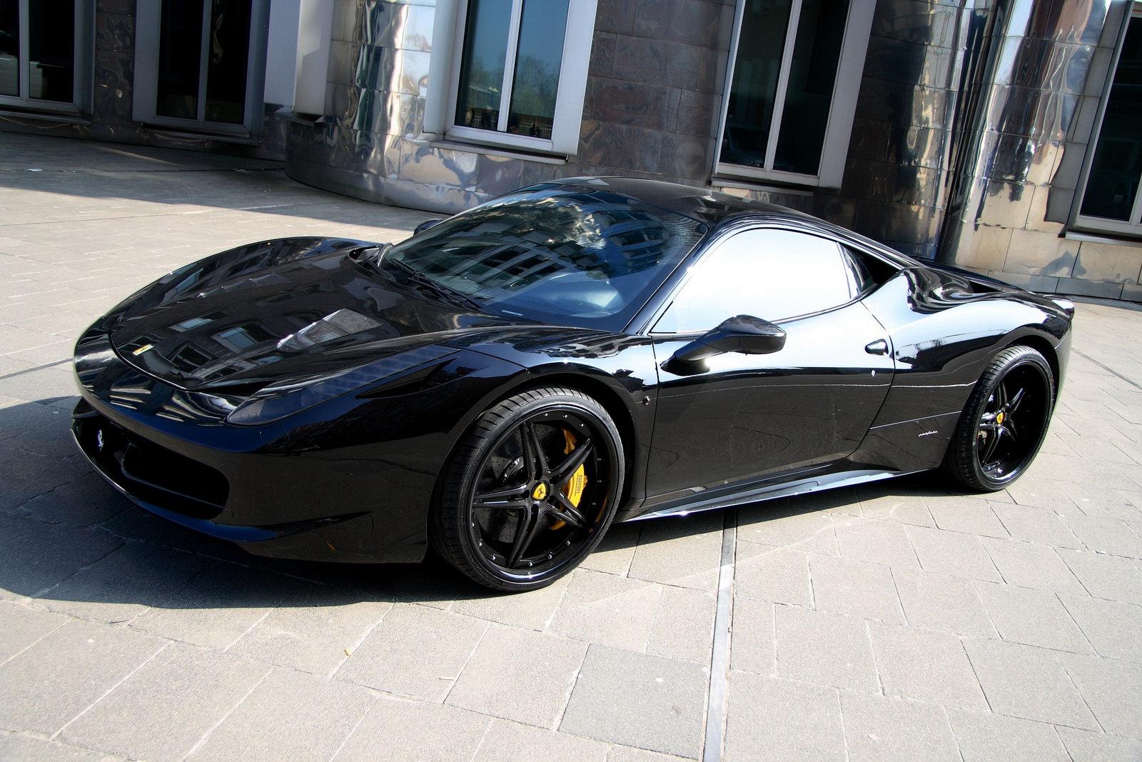 Carbon Fiber Wheels >> Ferrari 458 Black Carbon Edition Is Darth Vader's Supercar ...