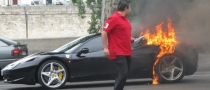 Ferrari 458 Catches Fire in Paris