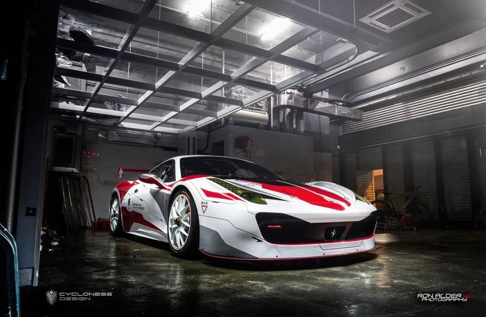 Ferrari 458 Challenge Race Car By Impressive Wrap Hong
