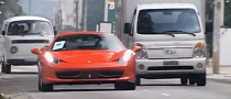 Ferrari 458 Goes Acceleration Crazy in City Traffic [Video]