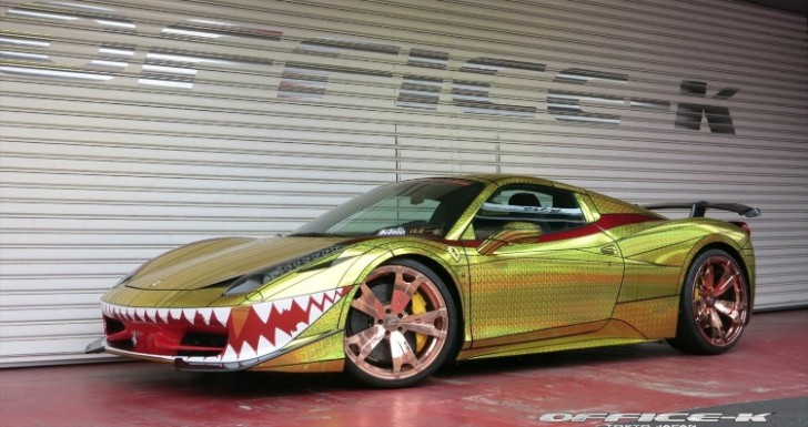 Ferrari 458 Quot Golden Shark Quot By Office K Is Tokyo S Most