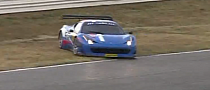 Ferrari 458 GT Spins Out and Almost Crashes [Video]