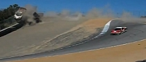 Ferrari 458 Italia Crash on Corkscrew, Laguna Seca: Double Rollover [Video]