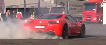 Ferrari 458 Italia Does Quick Burnout! [Video]