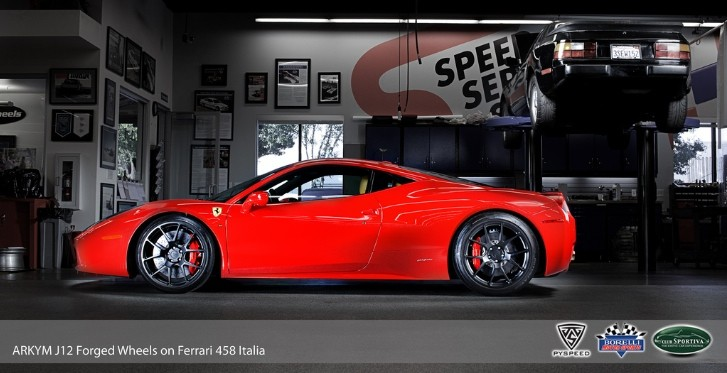 Ferrari 458 Italia Gets Arkym Wheels