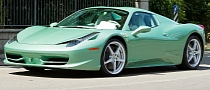 Ferrari 458 Italia in Mint Green