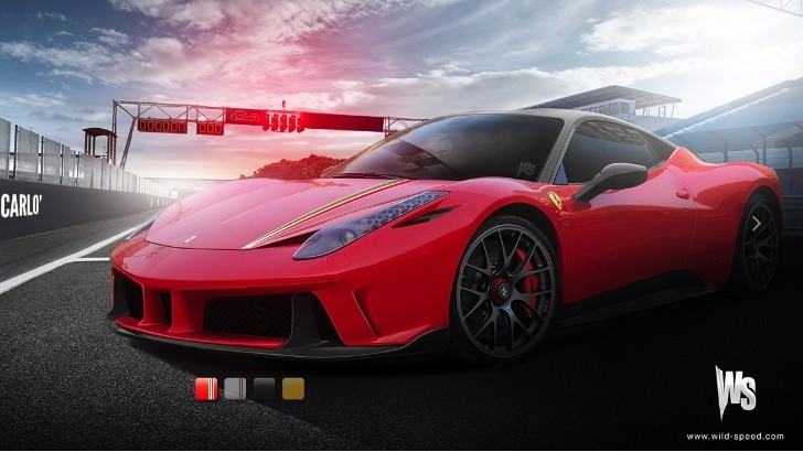 Ferrari 458 Monte Carlo Rendered with Configurator