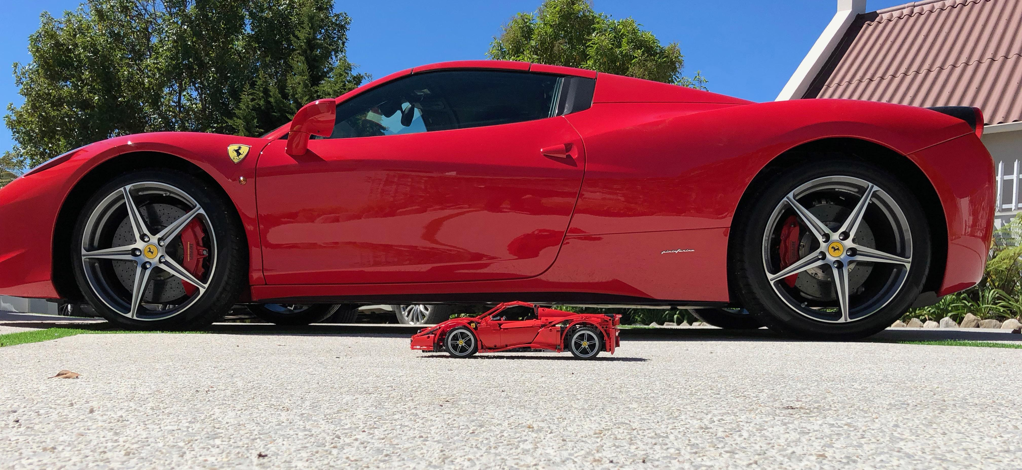 Ferrari 458 Spider Gets Its Own Lego Model With Working Retractable Roof Autoevolution