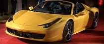 Ferrari 458 Spider Launch Party in San Francisco [Video]