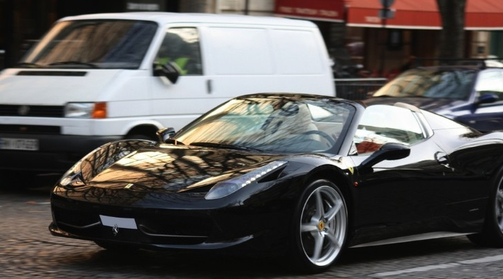 Ferrari 458 Spider Spotted in Paris
