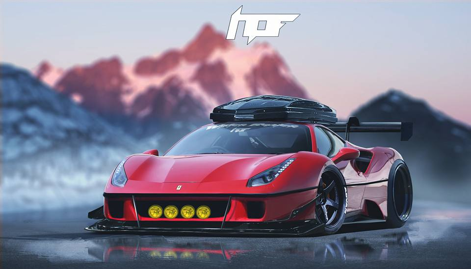 Ferrari 488 Gtb Gets Roof Box And Rallying Lights In