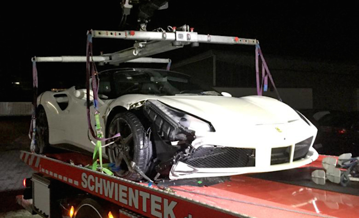 Ferrari 488 Gtb Has First Crash While Street Racing In