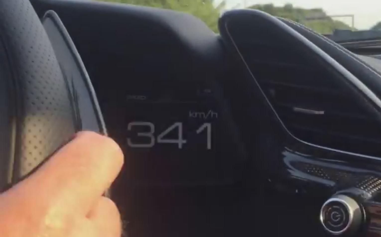 Ferrari 488 GTB Hits 341 KM/H on Autobahn in Real World Top Speed ...