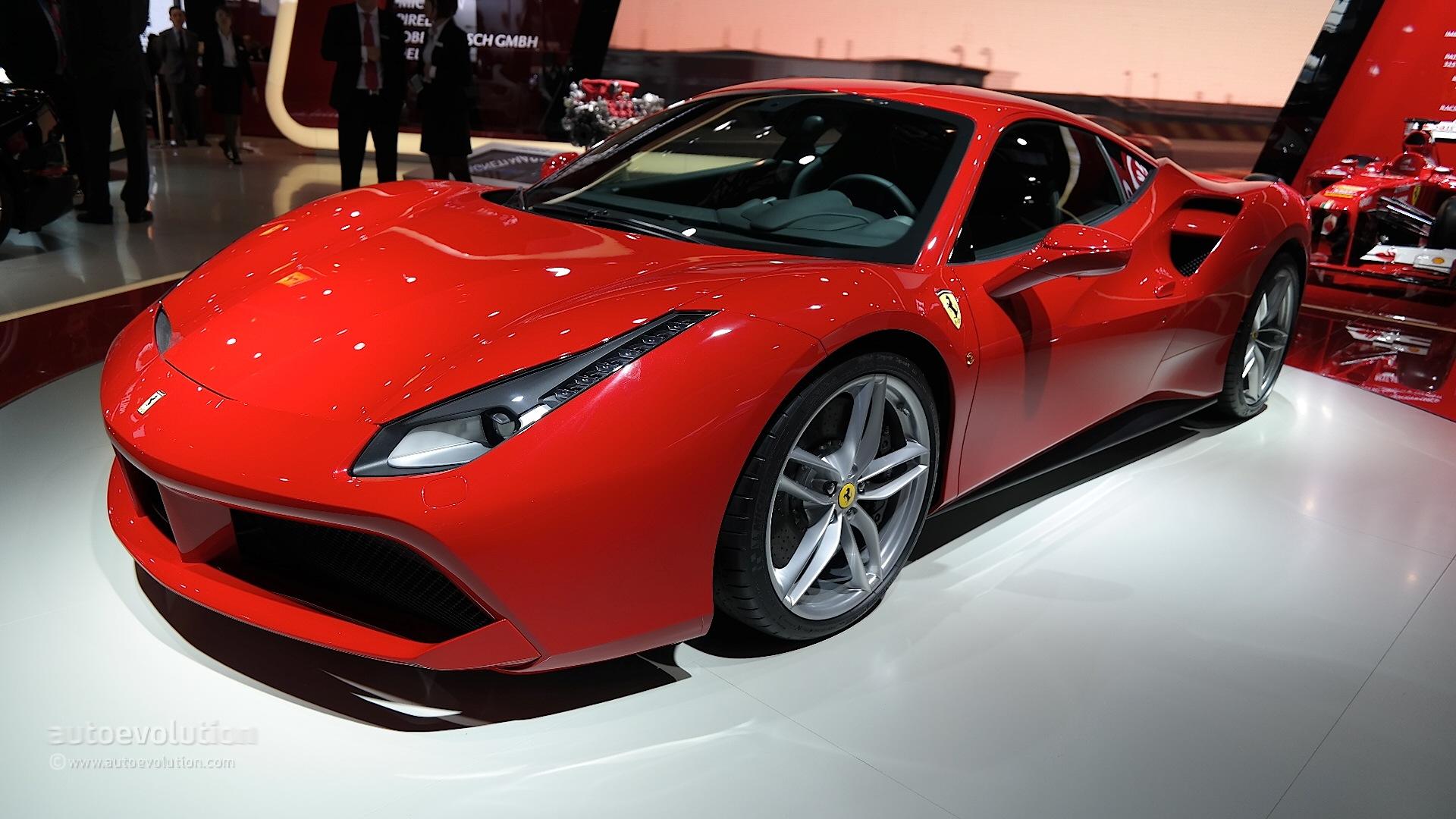Ferrari 488 GTB Joined by 3.9L Twin-Turbo V8 Display at Auto ...