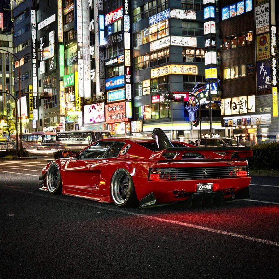 "Ferrari 512 TR ""Carbon Child"" Looks Like An Acura NSX"