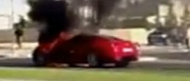 Ferrari 599 GTB Catches Fire in Dubai [Video]