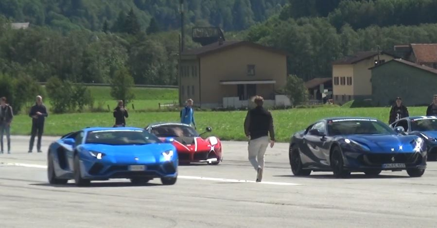 Ferrari 812 Superfast Vs Lamborghini Aventador S Drag Race Is A
