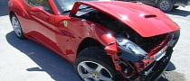 Ferrari California Destroyed in Highway Crash