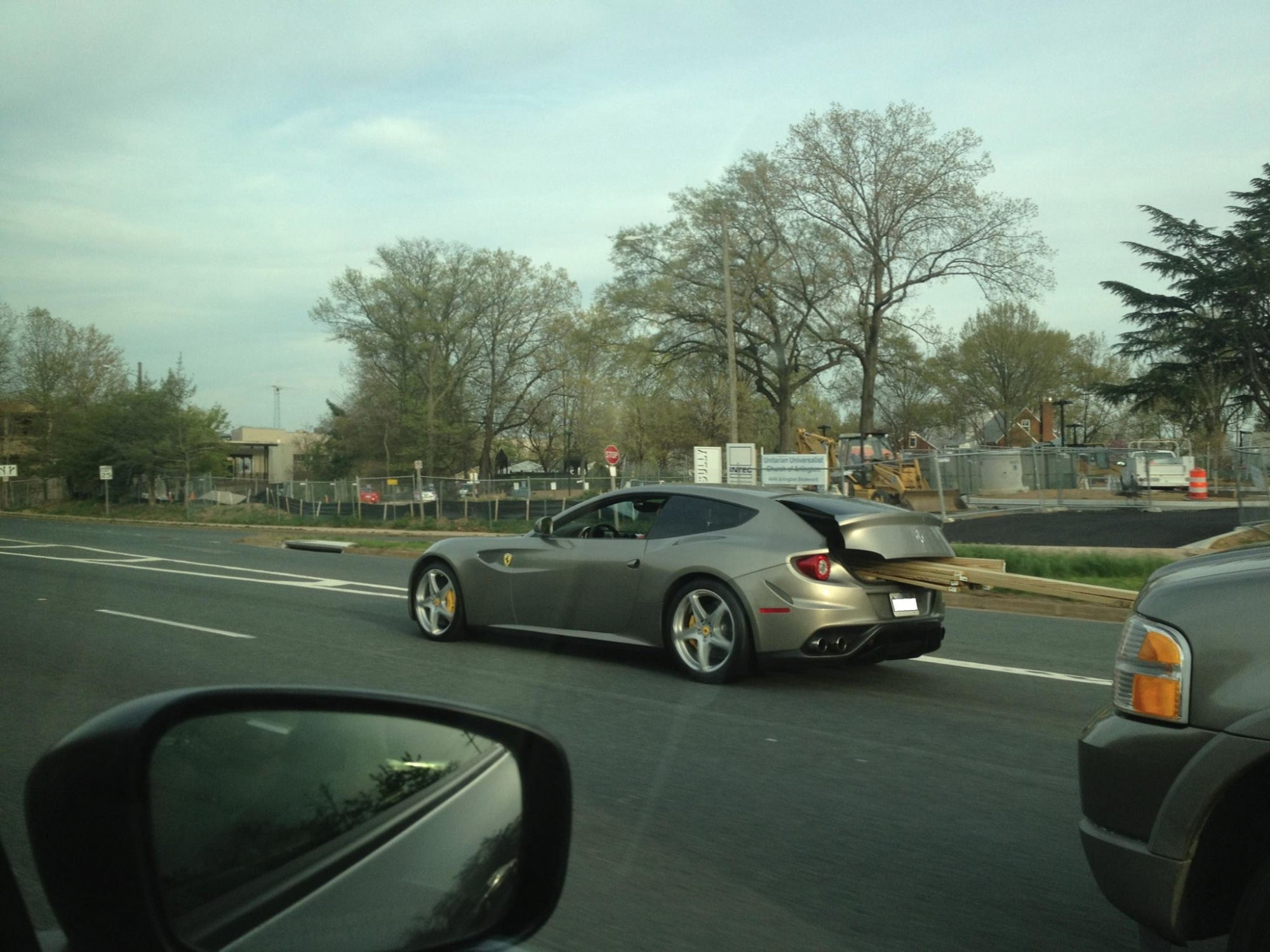 Ferrari Daily Driver FF Spotted Carrying Lumber