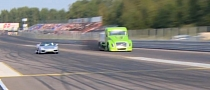 Ferrari Drag Races Volvo... Truck [Video]