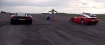 Ferrari Enzo Drag Races... Another Enzo [Video]