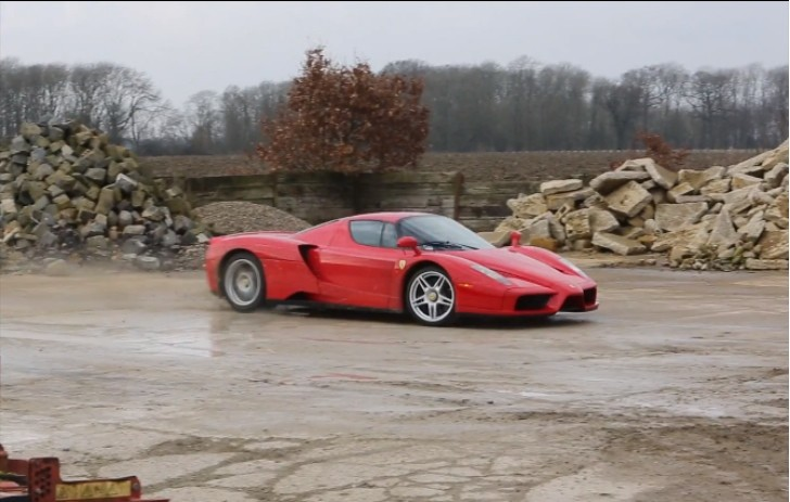 Ferrari Enzo Goes Dirt Road Rallying [Video]