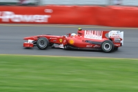 Fernando Alonso driving the Ferrari F10