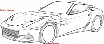 Ferrari F12 Patent Images Allegedly Leaked, May Be the Spider