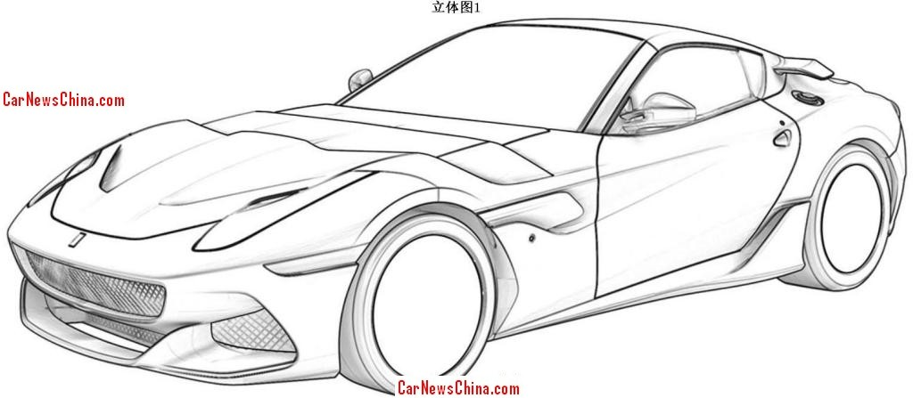 Ferrari F12 Patent Images Allegedly Leaked May Be The Spider