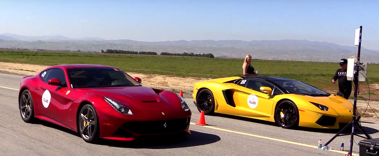 Ferrari F12 Vs Lamborghini Aventador Roadster The Atmospheric V12