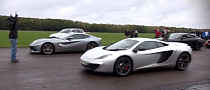 Ferrari F12 vs McLaren MP4-12C: Who Wins? [Video]