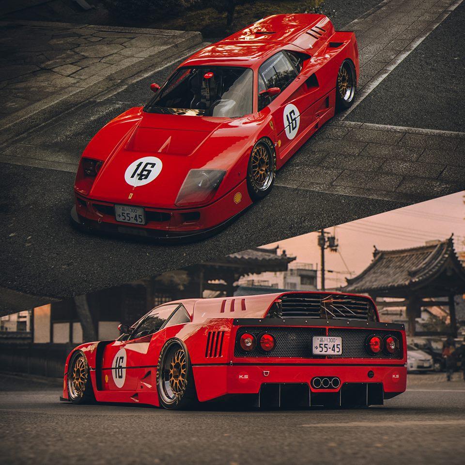 Ferrari F40: Ferrari F40 Breadvan Rendered, Will Offend Purists
