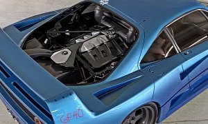 Ferrari F40 Gets Ford GT Makeover Rendering, Mix Looks Stable