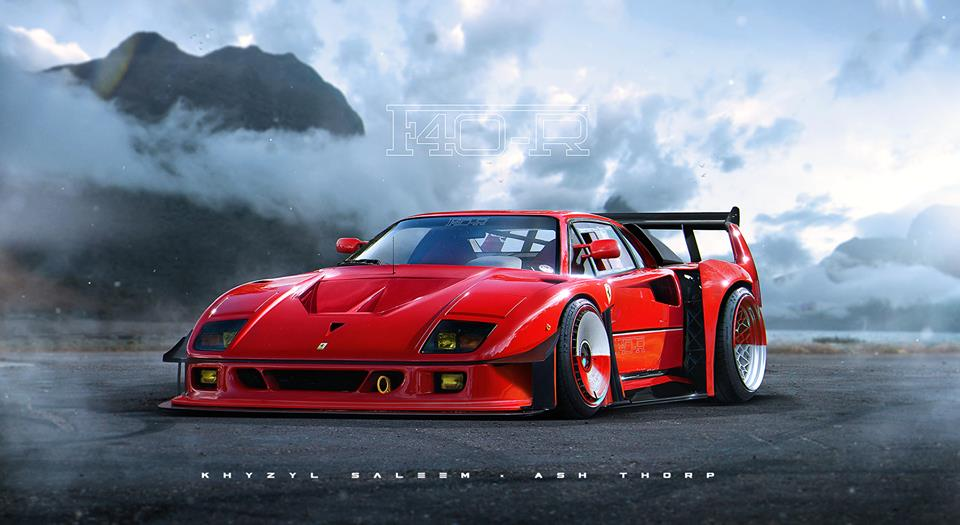 Ferrari F40 R Rendered What S Even More Hardcore Than An