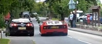 Ferrari F40 vs Nissan GT-R Near Crash [Video]