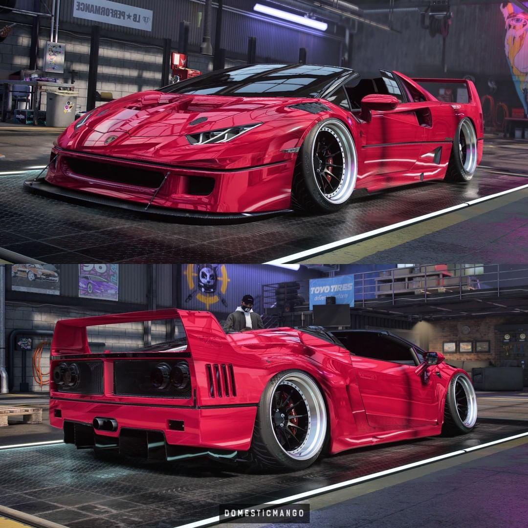 Ferrari F40 with Lamborghini Huracan Face Swap Looks Brand ...