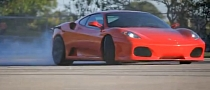 Ferrari F430 on ADV.1 Wheels Does Burnouts [Video]