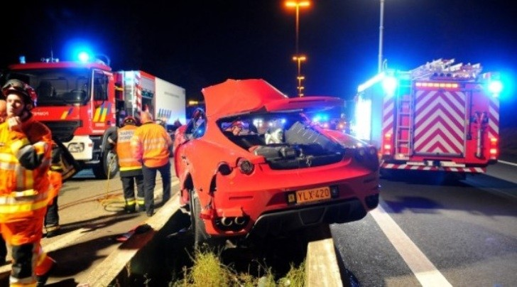 Ferrari F430 Scuderia Crashed Near Spa Francorchamps