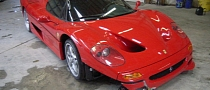 Ferrari F50 Crashed by FBI Now For Sale